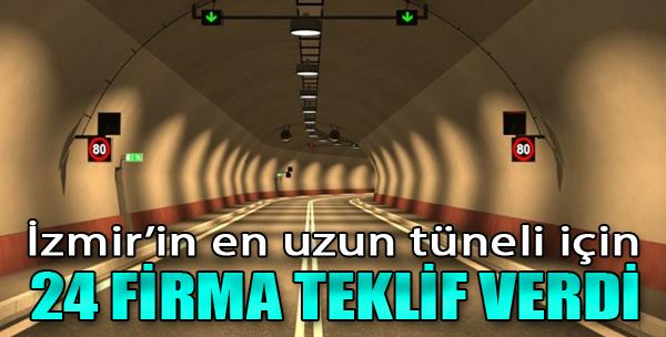 İzmir'in En Uzun Tüneli İçin 24 Firma Teklif Verdi
