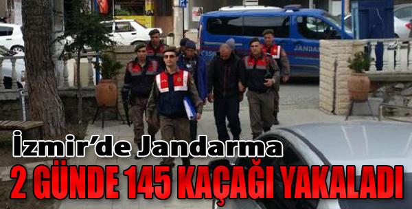 İzmir'de Jandarma 2 Günde 145 Kaçağı Yakaladı