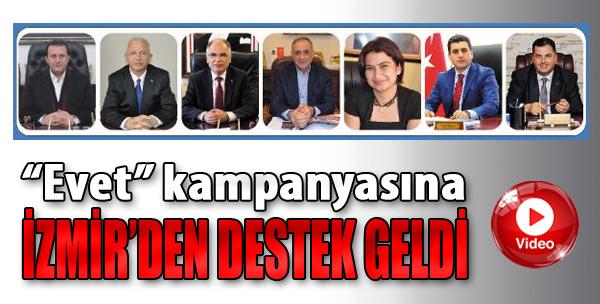 'Evet' Kampanyasına İzmir'den Destek Geldi