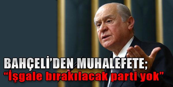 MHP Lideri Eleştirilere Tepki Gösterdi