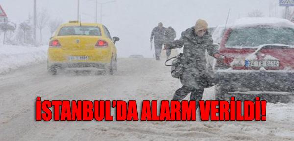 İstanbul'da Alarm Verildi
