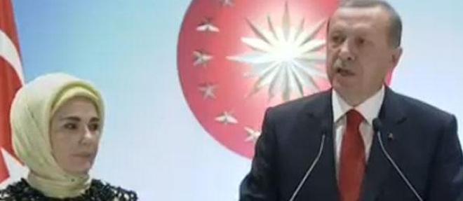 Erdoğan Resepsiyonda Konuştu
