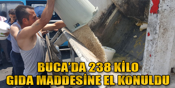 238 Kilo Gıda Maddesine El Konuldu
