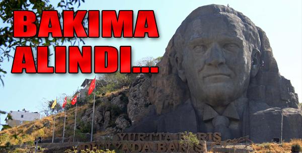 En Büyük Atatürk Maskı Bakıma Alındı