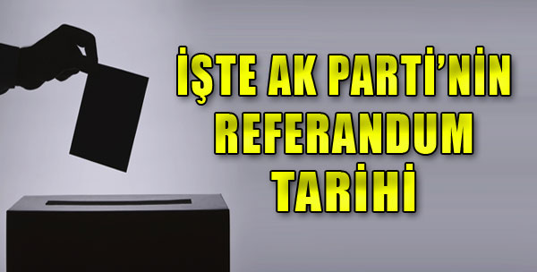 İşte Referandum Tarihi