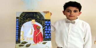 9 Yaşındaki Kaan, Resim Sergisi Açtı