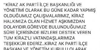 Kiraz AK Parti Yönetimi İstifa Etti