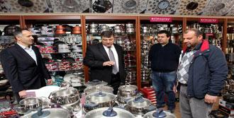 Fincancılar Çarşısı'na Başkan desteği