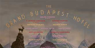 Grand Budapest Hotel'in Posteri