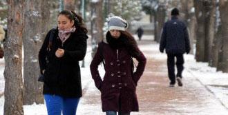 Erciyes'te Kar Kalınlığı 20 Santime Ulaştı