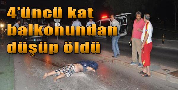 4'üncü Kat Balkonundan Düşüp Öldü