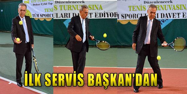 İlk Servis Başkan'dan