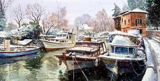 'Kış Temalı' Resim Sergisi