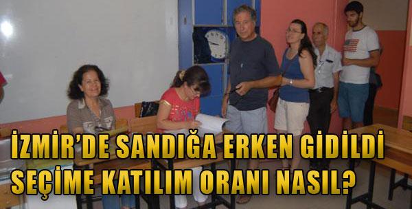 İzmir'de Sandığa Erkenden Gidildi