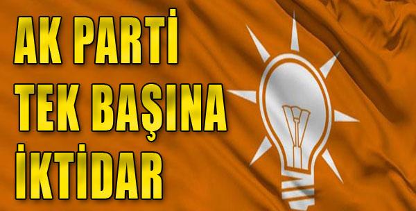 AK Parti Tek Başına İktidar