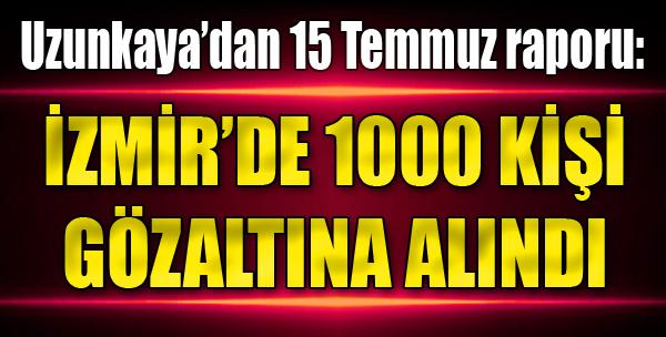 İzmir'de 1000 Kişi Gözaltına Alındı