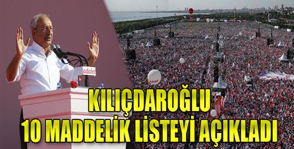 Kılıçdaroğlu Maltepe Mitinginde Konuştu