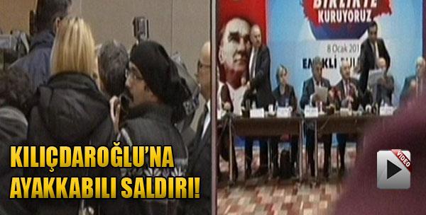 Kılıçdaroğlu'na Ayakkabılı Saldırı