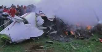 Uçak Kazasında  8  Kişi Öldü
