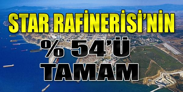 Star Rafinerisi'nin Yüzde 54'ü Tamam