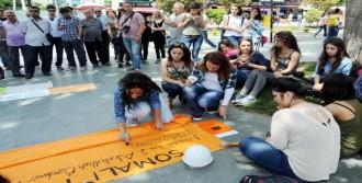 Antalyalı Kadınlar Madencilerin Adını Yazdı
