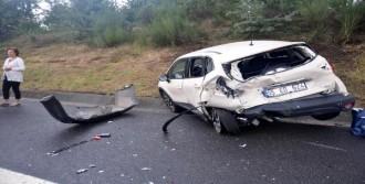 Aynı Noktada 2 Ayrı Kazada 5 Araç Birbirine Girdi