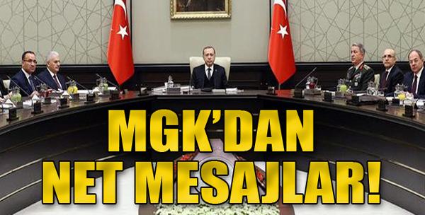 MGK'dan net mesajlar: Menbiç, Sincar, Fırat'ın doğusu, Kandil, Kıbrıs!