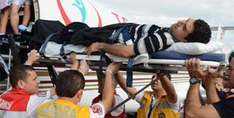 Yaralanan Uzman Türkiye'de