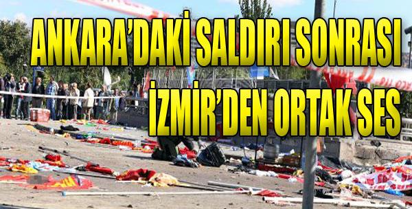 İzmir, Ankara'daki Saldırıyı Lanetledi