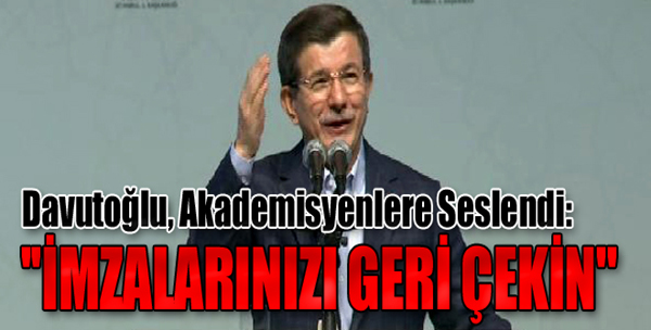 Başbakan Davutoğlu'ndan Açıklamalar