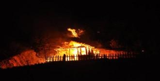 Bağ Evi Çıkan Yangında Kül Oldu
