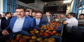 Bakanlar Sebze Ve Meyve Halinde Sorun Dinledi