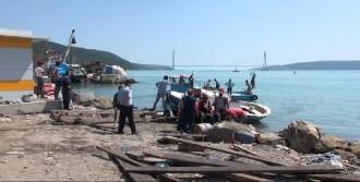 Balıkçı Teknesi Kayalıklara Çarptı