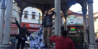 Bartın'da Pankart Gerginliği