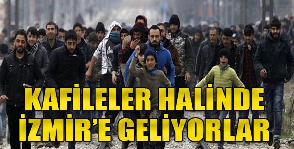 Mülteciler İzmir'de...