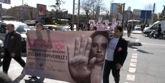 'Kadına Şiddete' Karşı Yürüdüler
