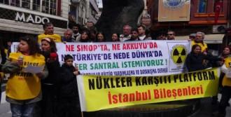 Beşiktaş'ta Nükleer Karşıtı Eylem