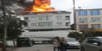 4 Katlı Binada Yangın Çıktı