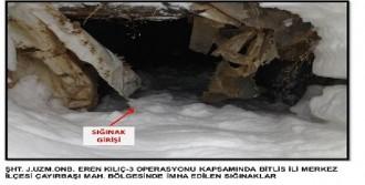 Bitlis'te PKK Sığınakları İmha Edildi