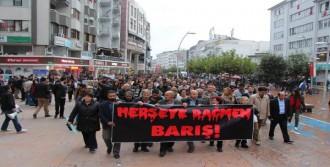 Bombalı Saldırı Protestosunda Gerginlik