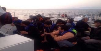 Botları Batan Kaçakları Sahil Güvenlik Kurtardı