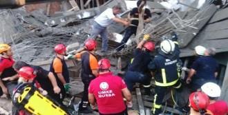 Bursa'da İnşaat Göçtü: 2 Yaralı