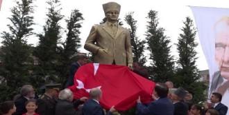 5.5 Metre Yüksekliğinde Atatürk Anıtı Açıldı
