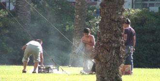 Cumhuriyet Meydanı'nda Mangal Yaktılar