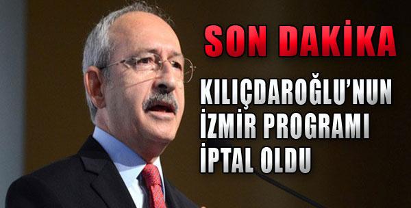 Kılıçdaroğlu'nun Programı İptal Oldu
