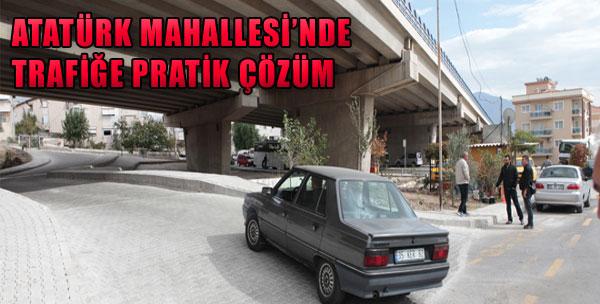 Atatürk Mahallesi'nde Trafiğe Pratik Çözüm