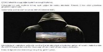 Çomü Web Sitesine Siber Saldırı