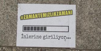 CHP Pankartlarına Kaldırımdan Cevap