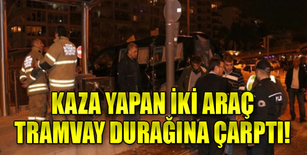 İzmir'de feci kaza: Önce arabaya, sonra durağa!