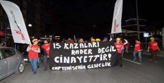 CHP Ermenek'te Maden İşçisi İçin Yürüdü